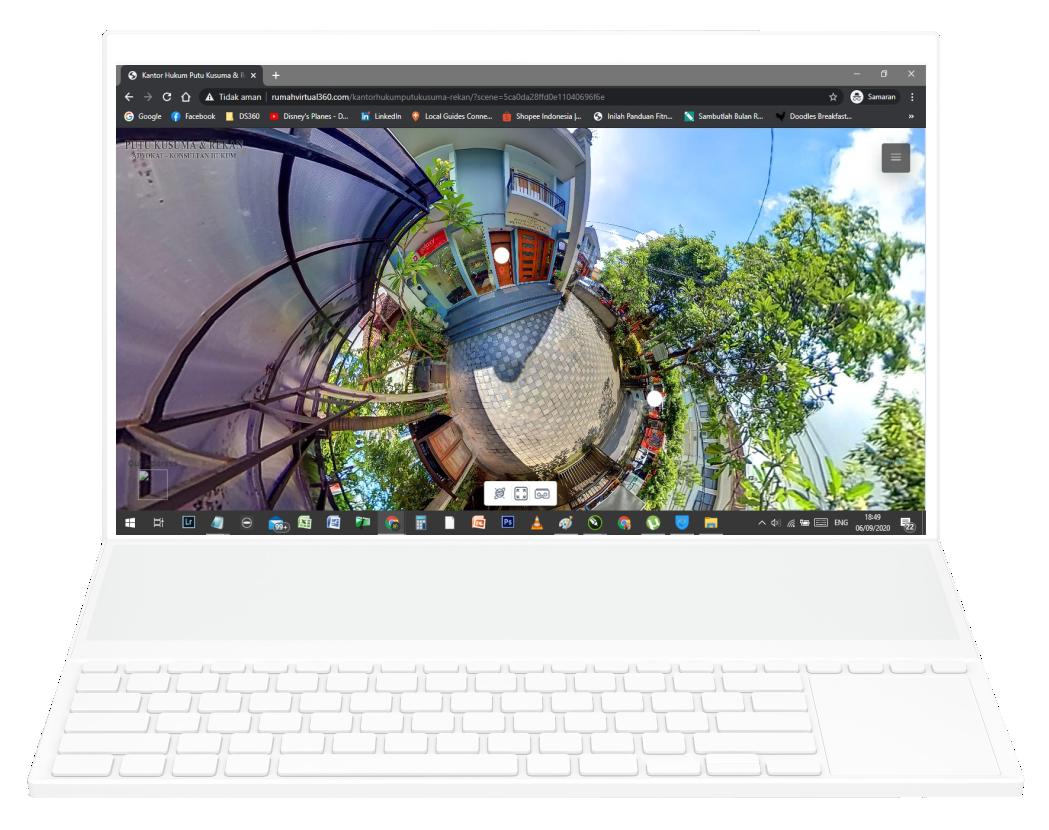 Gambar Virtual Tour 360 Kantor Hukum Putu Kusuma