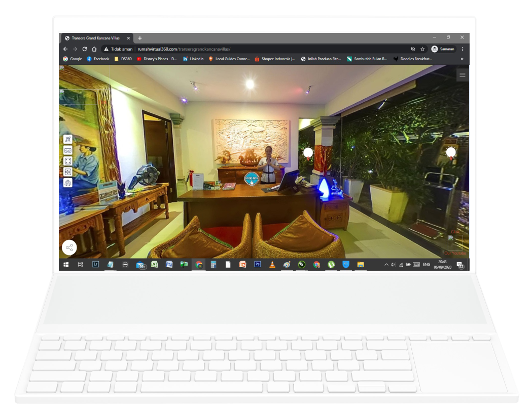 Jasa foto 360 pembuatan virtual tour 360 termurah di bali